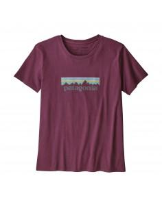 Patagonia Womens Pastel P-6 Logo Organic Crew T-Shirt Light Balsamic Offbody Front