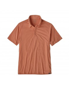 Patagonia Mens Capilene Cool Trail Polo Mellow Melon Offbody Front
