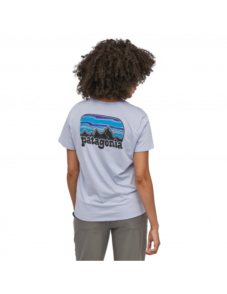 Patagonia Dámske Organické Tričko S Vreckom Fitz Roy Far Out Beluga Biela Onbody Zozadu