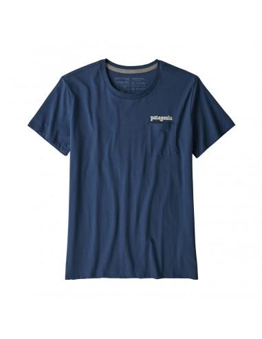 Patagonia Dámske Organické Tričko S Vreckom Fitz Roy Far Out Kamenná Modrá Offbody Spredu