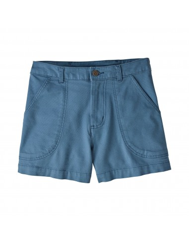 Patagonia Womens Stand Up Shorts 3 Inch Pigeon Blue Offbody Front