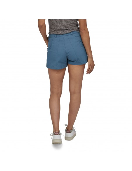 Patagonia Womens Stand Up Shorts 3 Inch Pigeon Blue Onbody Back