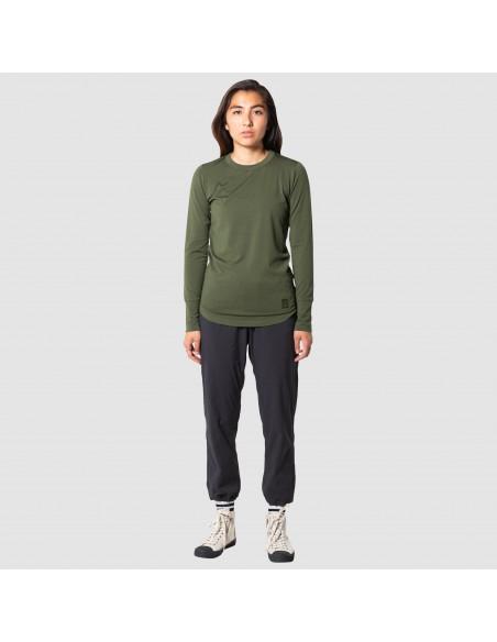 Topo Designs Womens Boulder Pants Black Onbody Front 2