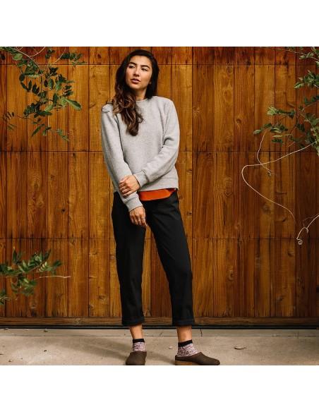 Topo Designs Womens Boulder Pants Black Onbody Front 3