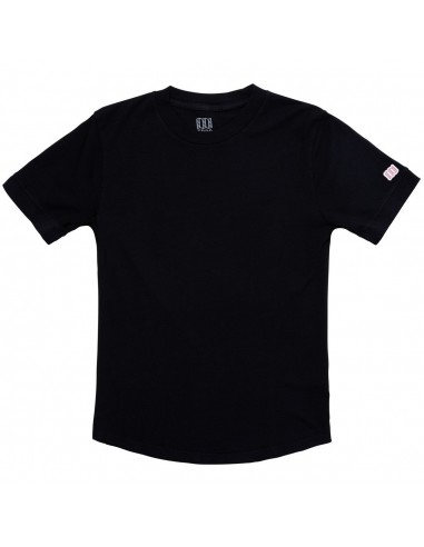 Topo Designs Womens Rec Tee Black Offbody Front
