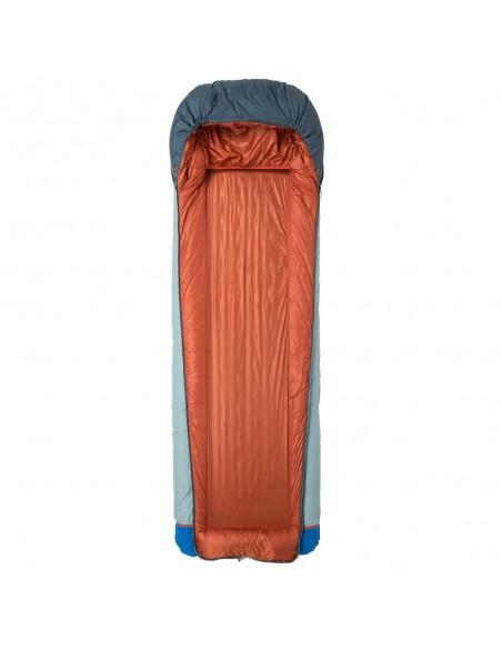 Big Agnes Diamond Park 30 Sleeping Bag Gray Slate Front Open