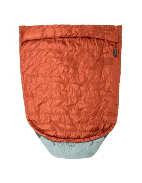 Big Agnes Diamond Park 30 Sleeping Bag Gray Slate Front Detail