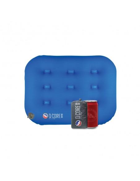 Big Agnes Nafukovací Vankúš Q-Core Deluxe Modrá Rozbalený Porovnanie