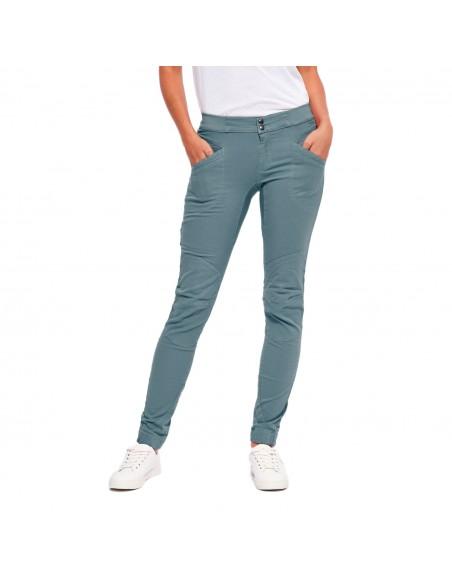 LFW Woman Technical Pants Layla Peak Grey Blue Onbody Front