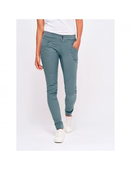 LFW Woman Technical Pants Layla Peak Grey Blue Onbody Front 2