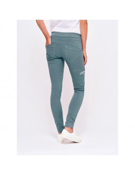LFW Woman Technical Pants Layla Peak Grey Blue Onbody Back