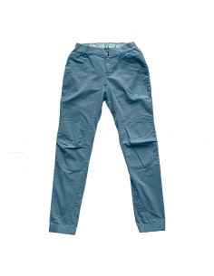 Looking for Wild Womens Technical Pants Laila Peak Grey Blue Offbody Front