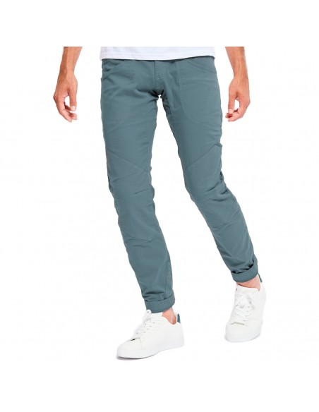 Looking for Wild Mens Technical Pants Fitz Roy Bleur Gris Onbody Front