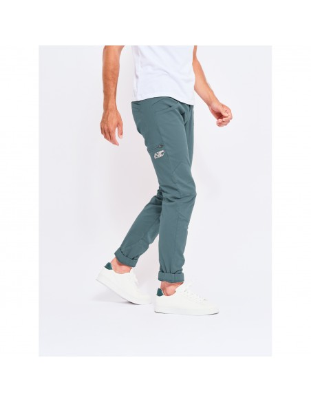 Looking for Wild Mens Technical Pants Fitz Roy Bleur Gris Onbody Side