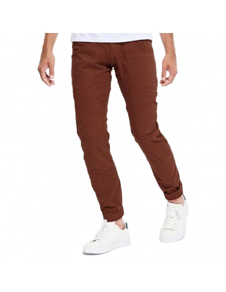 Looking for Wild Mens Technical Pants Fitz Roy Maroon Choco Onbody Front