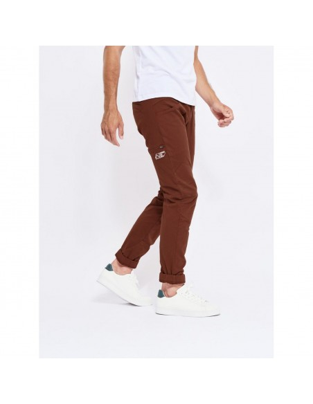 Looking for Wild Mens Technical Pants Fitz Roy Maroon Choco Onbody Side 2