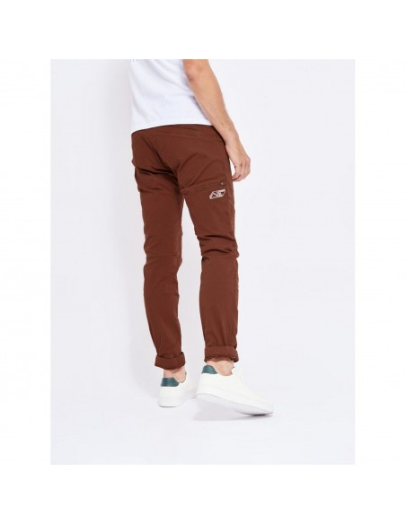 Looking for Wild Mens Technical Pants Fitz Roy Maroon Choco Onbody Side Back