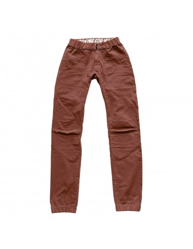 Looking for Wild Mens Technical Pants Fitz Roy Maroon Choco Offbody Front