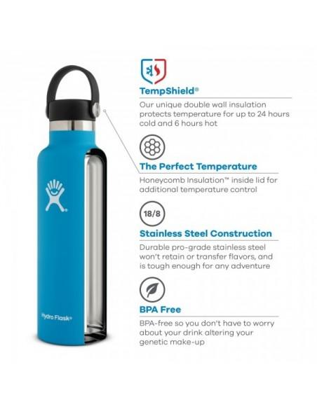Hydroflask 24 oz Fľaša Termoska So Štandardným Hrdlom A Uzáverom Flex Cap Dizajn