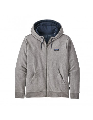 Patagonia M's P-6 Label French Terry Full-Zip Hoody Feather Grey Offbody Front