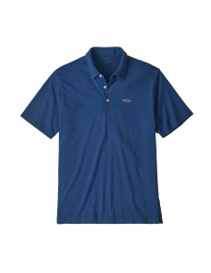 Patagonia Mens Polo Trout Fitz Roy Superior Blue Offbody Front