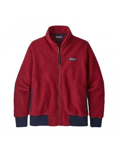 Patagonia Womens Woolyester Fleece Jacket Molten Lava Offbody Front