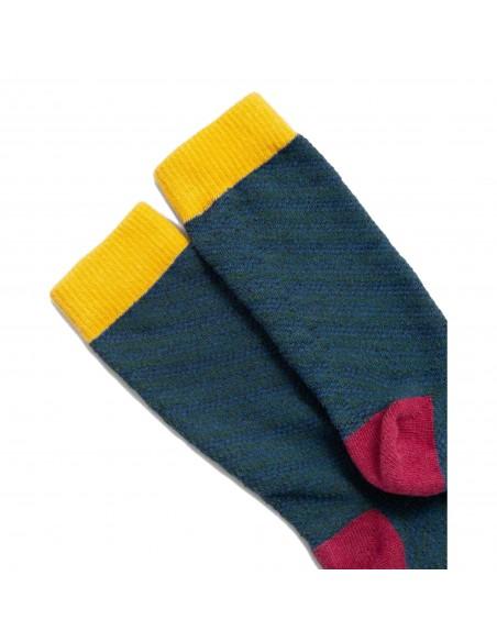 United By Blue Ponožky SoftHemp Modrozelená Detail
