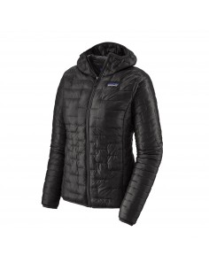 Patagonia Womens Micro Puff Hoody Black Offbody Front 2
