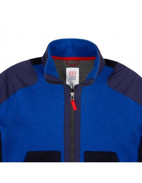 Dámsky Global Full Zip Sveter Modrý Offbody Detail