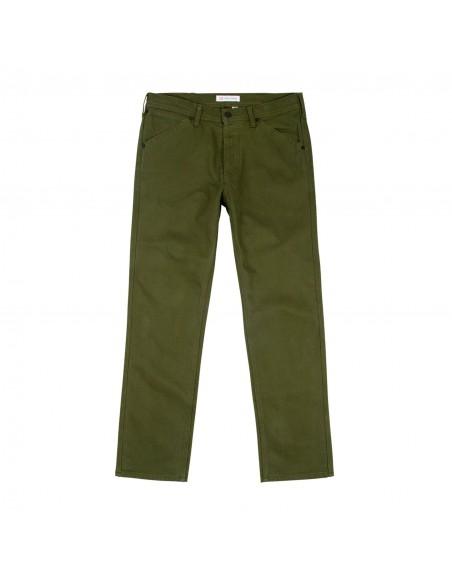 Topo Designs Pánske Keprové Nohavice 5 Pocket Olivová Zelená Offbody Spredu