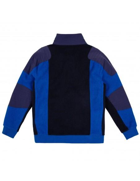 Patagonia Mens Global 1/4 Zip Sweater Blue Offbody Back