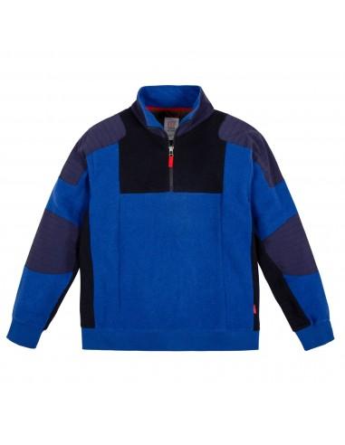 Patagonia Mens Global 1/4 Zip Sweater Blue Offbody Front