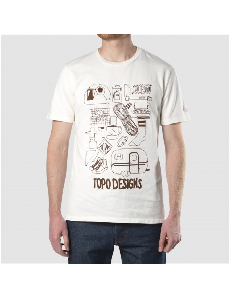 Topo Designs Mens Gear Tee Natural Onbody Front