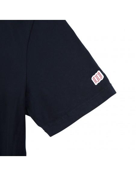 Topo Designs Mens Gear Tee Navy Offbody Sleeve Detail