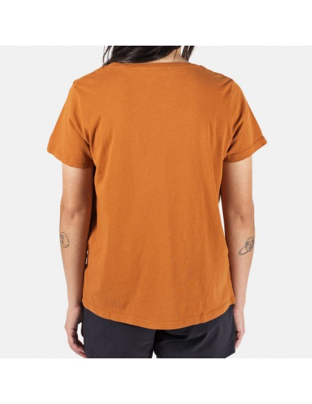 Topo Designs Womens Gear Tee Orange Onbody Back