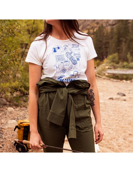 Topo Designs Womens Gear Tee Natural Onbody Lifestyle