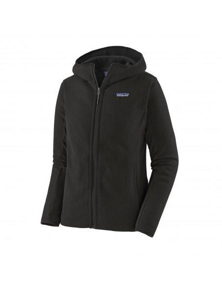 Patagonia Dámska Ľahká Fleecová Mikina S Kapucňou Better Sweater Čierna Offbody Spredu