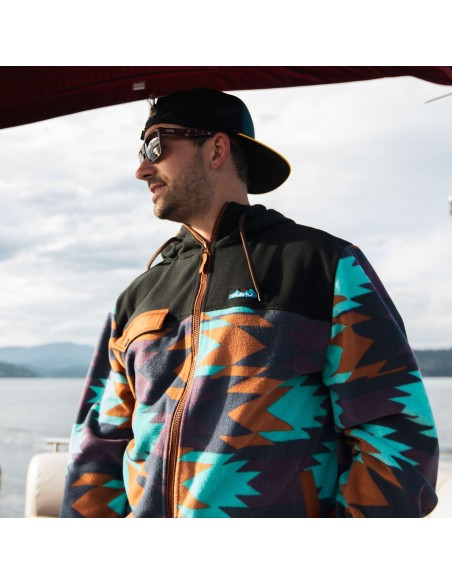 Kavu Mens Peoh Point Sweatshirt Basin Geo Lifestyle 1