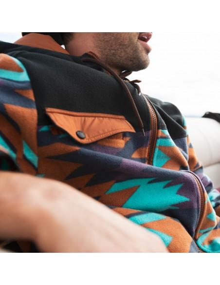 Kavu Mens Peoh Point Sweatshirt Basin Geo Lifestyle 2