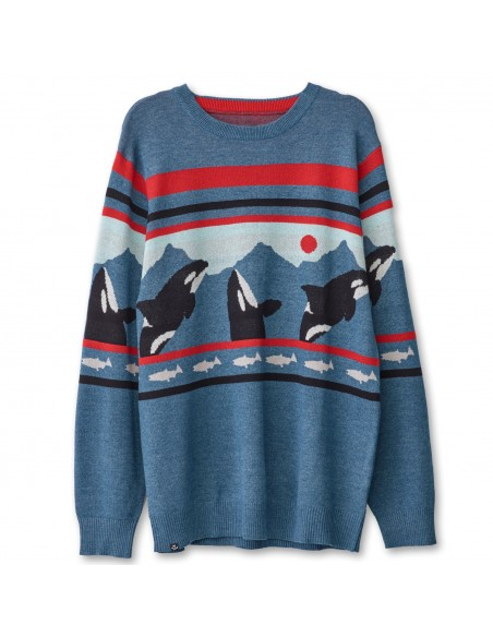 Kavu Highline Sweater Orca Offbody Front