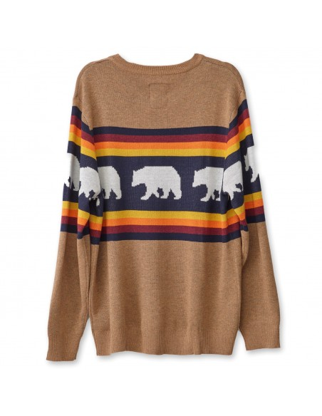 Kavu Highline Sweater Snow Bear Offbody Back