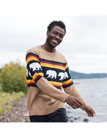 Kavu Highline Sweater Snow Bear Lifestyle 2
