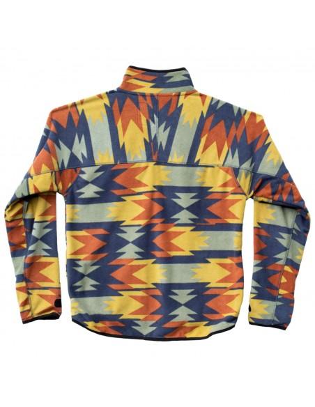 Kavu Pánska Mikina Winter Throwshirt Strat Geo Modrá Oranžová Offbody Zozadu