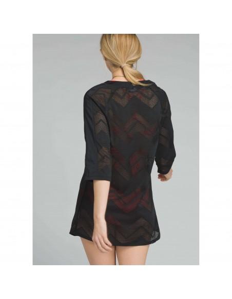 prAna Womens Shea Tunic Dress Black Onbody Back
