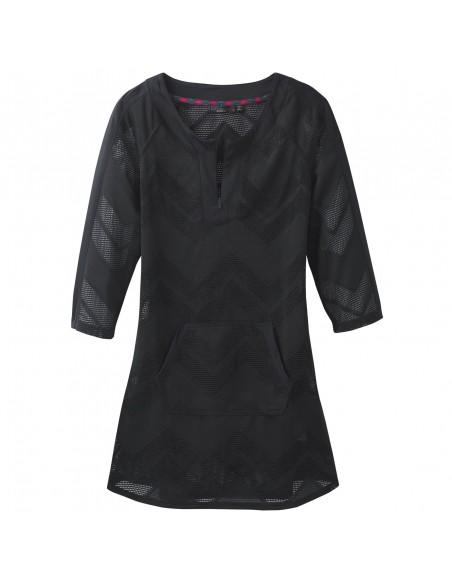 prAna Womens Shea Tunic Dress Black Offbody Front