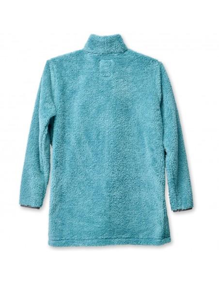 Kavu Womens Snowpack Sweater Blue Spruce Offbody Back