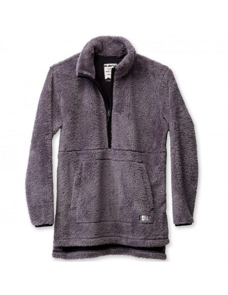 Kavu Womens Snowpack Sweater Smoked Pearl Offbody Front