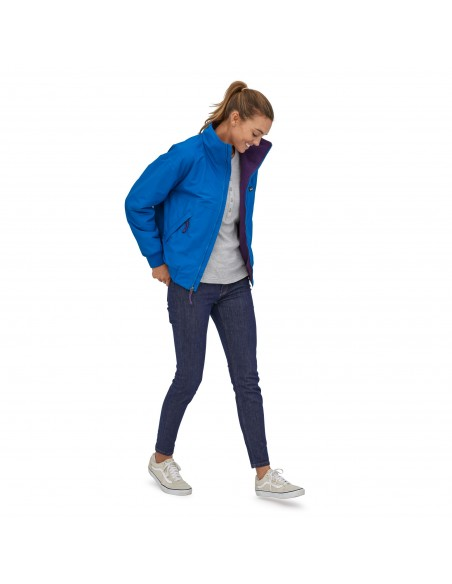Patagonia Womens Shelled Synchilla Jacket Alpine Blue Onbody Front 2