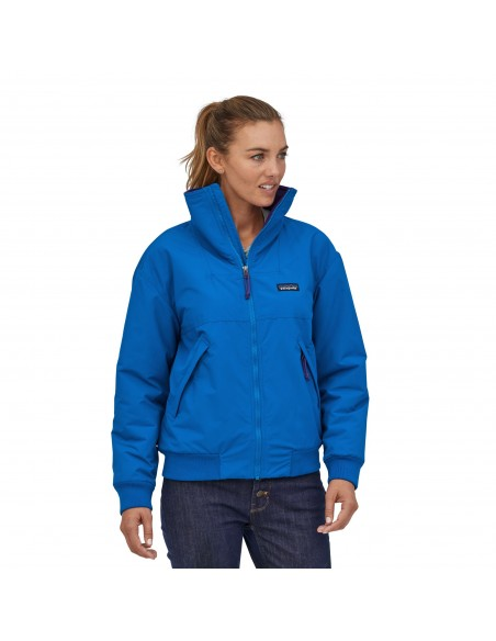 Patagonia Womens Shelled Synchilla Jacket Alpine Blue Onbody Front