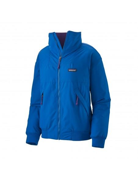 Patagonia Womens Shelled Synchilla Jacket Alpine Blue Offbody Front